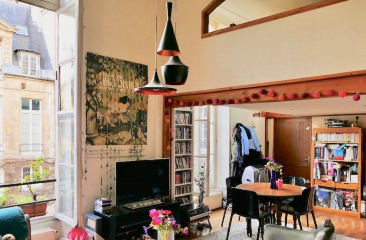 Enfants Rouges – Beau Loft 70 m², avec mezzanine