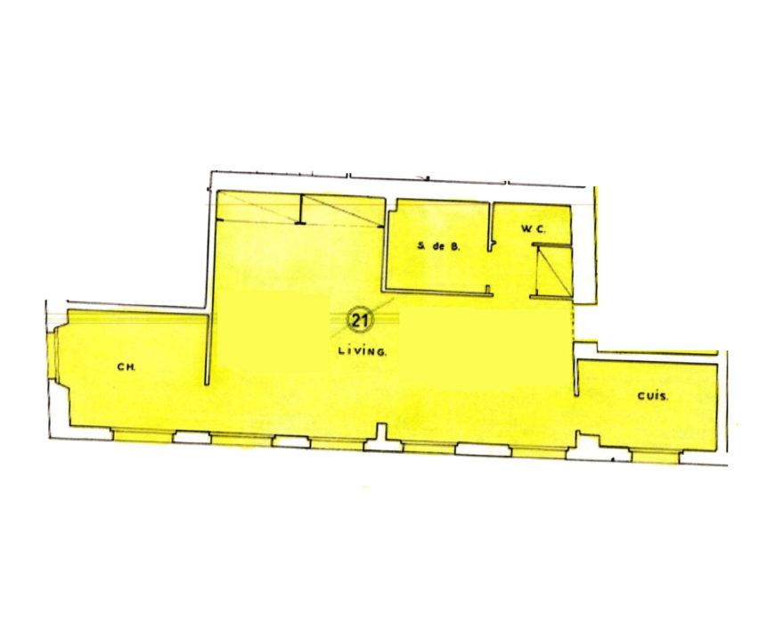 Louvre-Rivoli, Appartement 2 Pièces 42 m², à Rénover