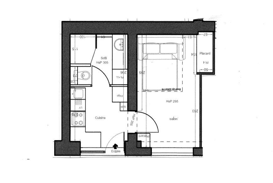 Panthéon – Studio 25 m² Meublé et Equipé sur cour