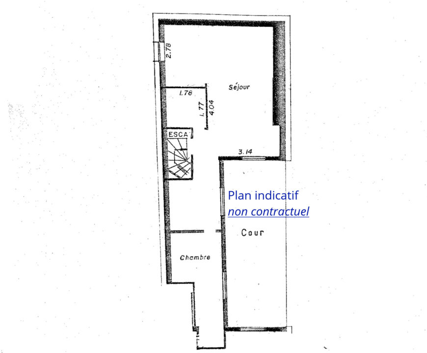 Montorgueil, Appartement 2-3 Pièces 44 m², à Rafraichir